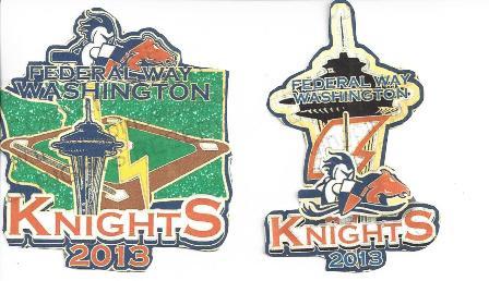 2013  12U Knights CDP Pins