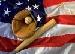 baseball & flag