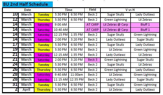 8U 2nd Half Schedule.jpg