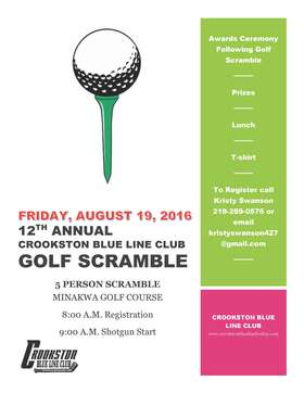 2016 Golf Scramble Flyer