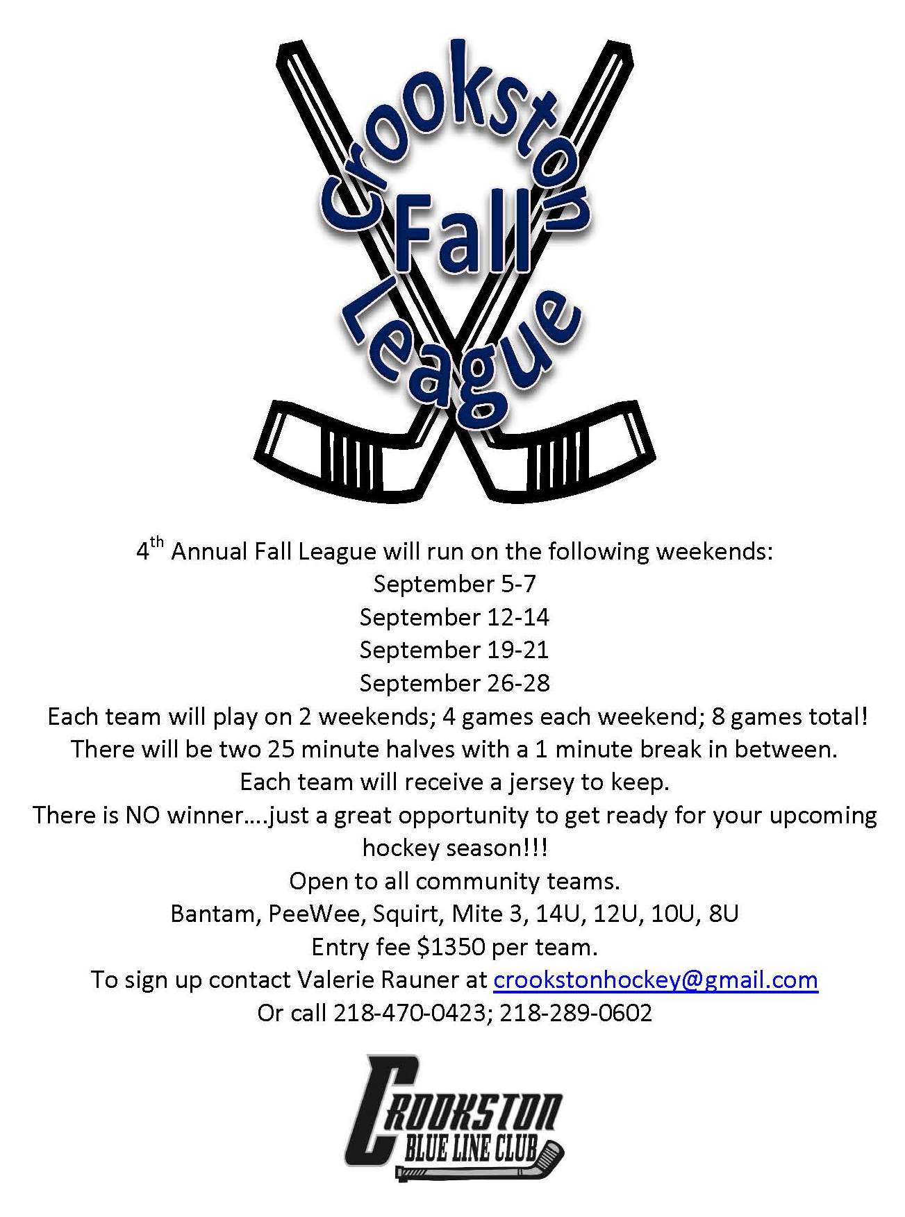 2014 FALL LEAGUE FLYER