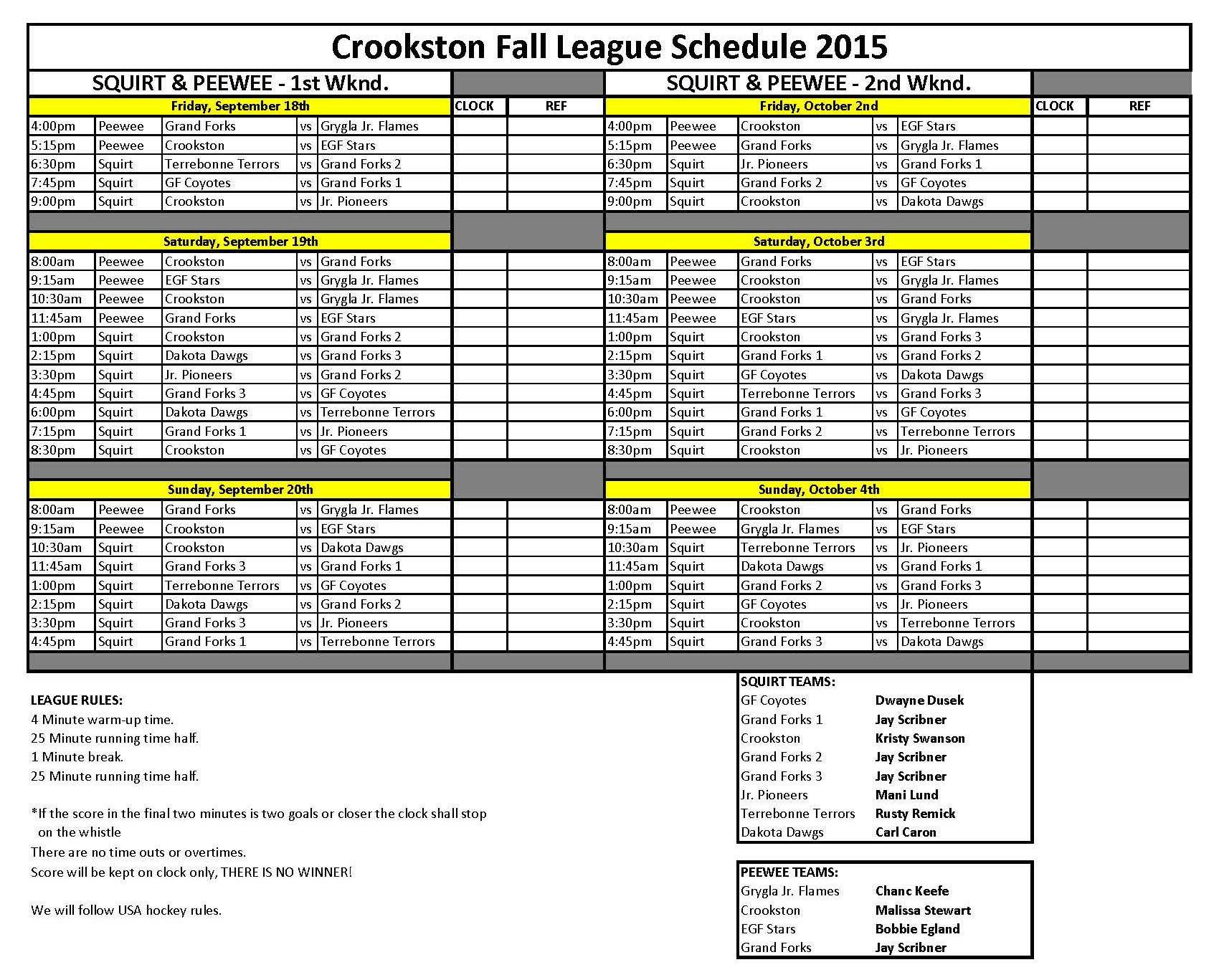 UPDATED Fall League 2015 schedule- Squirt & Peewee.jpg