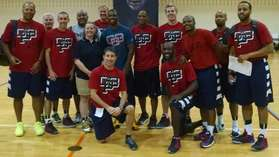 ELITE CAMP COACHES WITH CP3