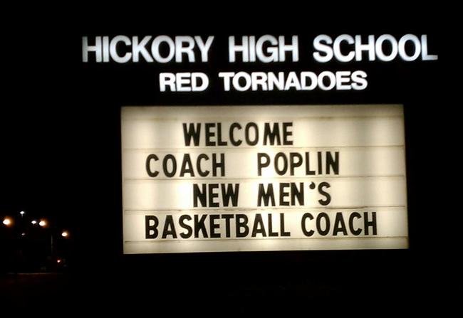 HICKORY HIGH SIGN