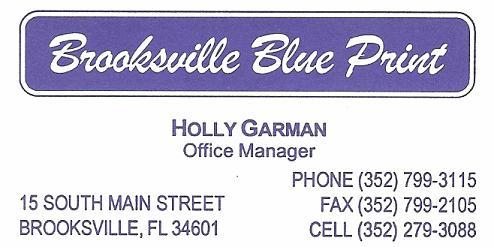 Brooksville Blue Print