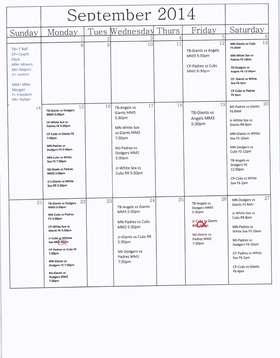 September Game Schedule pg1