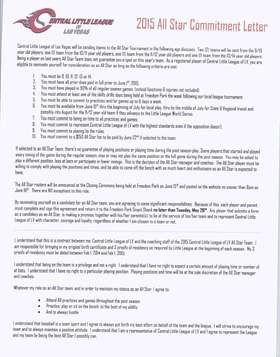 All Star Commitment Letter Page 1