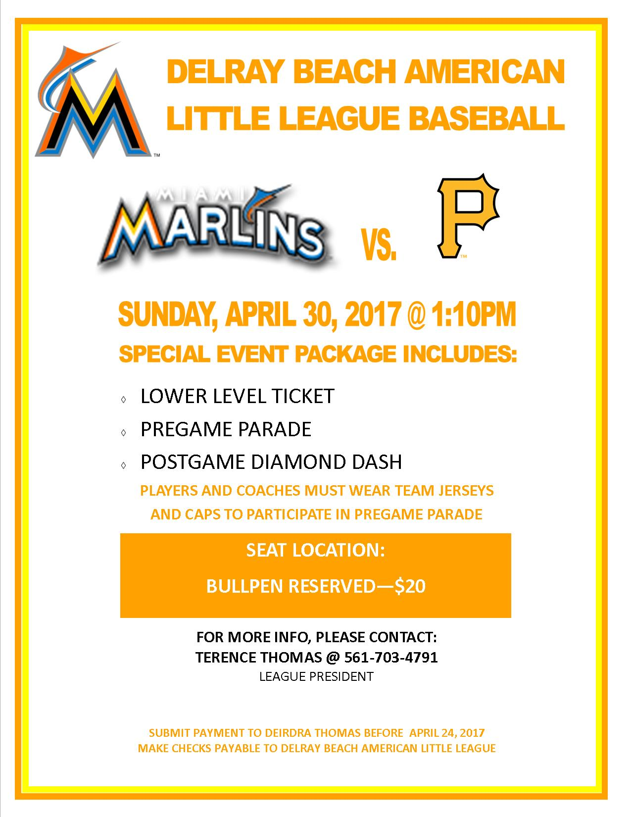MARLINS GAME DAY FLYER
