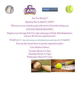 Registration Announcement