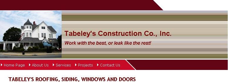 TABELEY'S CONSTRUCTION CO