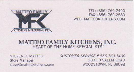 Matteo Family Kitchens, Inc.
