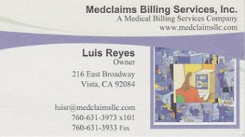 Reyes business card