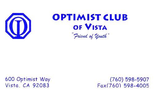 Optimist Club of Vista xyz1
