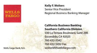 Wells Fargo business card