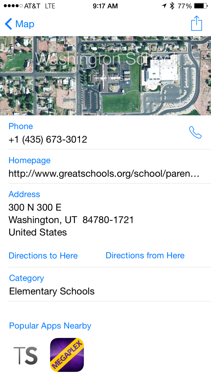 Washington Elementary Address