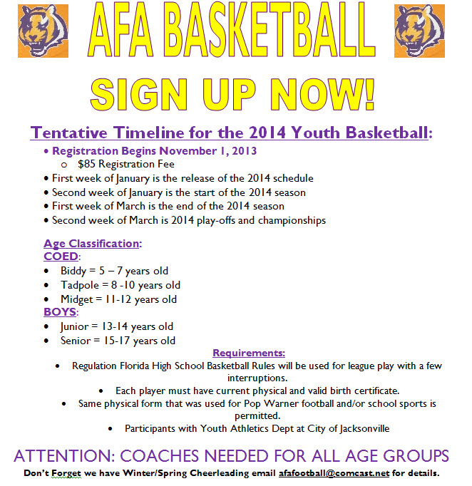 2014 AFA Basketball Flyer