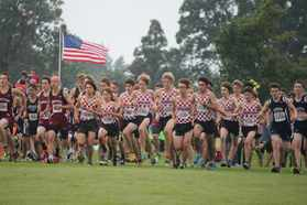 Start of the JV race - under the US flag