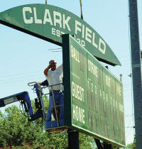 New Score Board for Clark Field