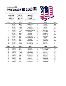 fc schedule