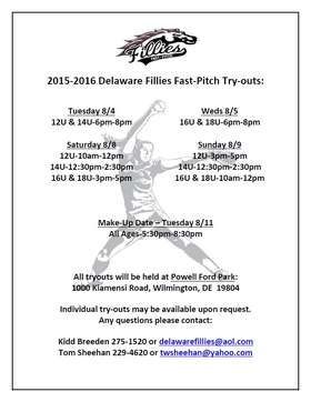 Fillies Try-Outs 2015-2016 Season