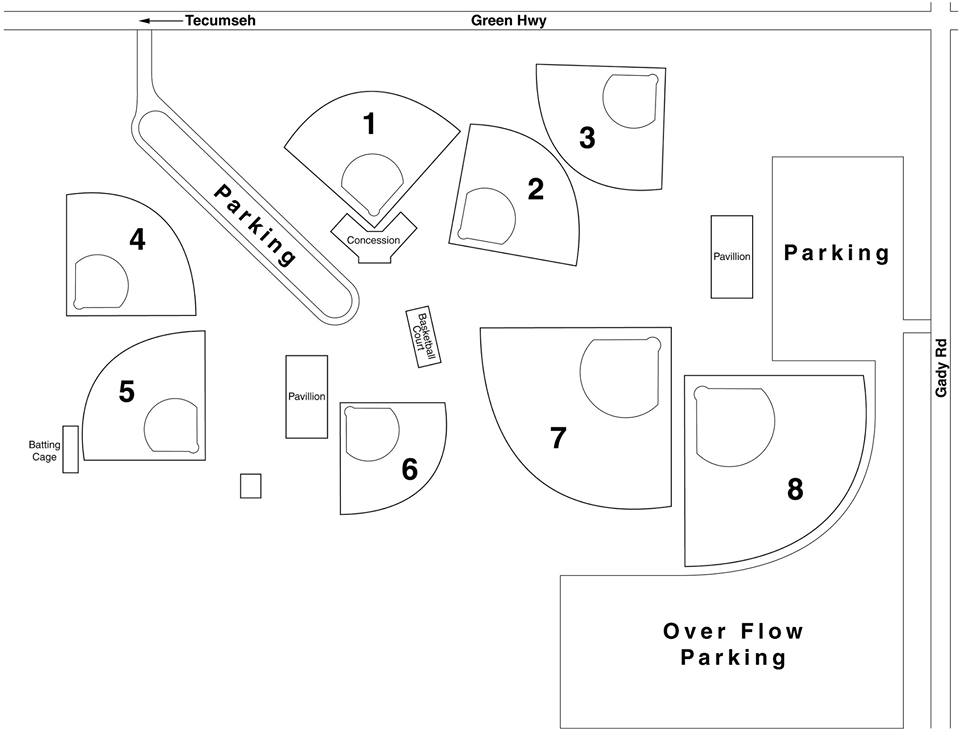 Tecumseh Field Map
