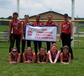 Elyria East Jr Softball OH State Champ
