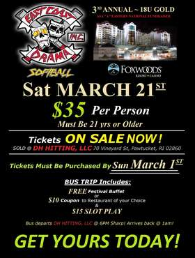 Foxwoods Bus Trip Flyer