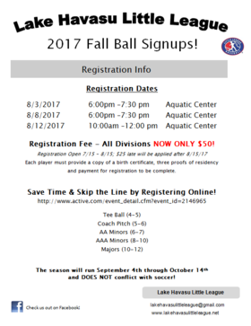 2017 Fall Ball Flyer