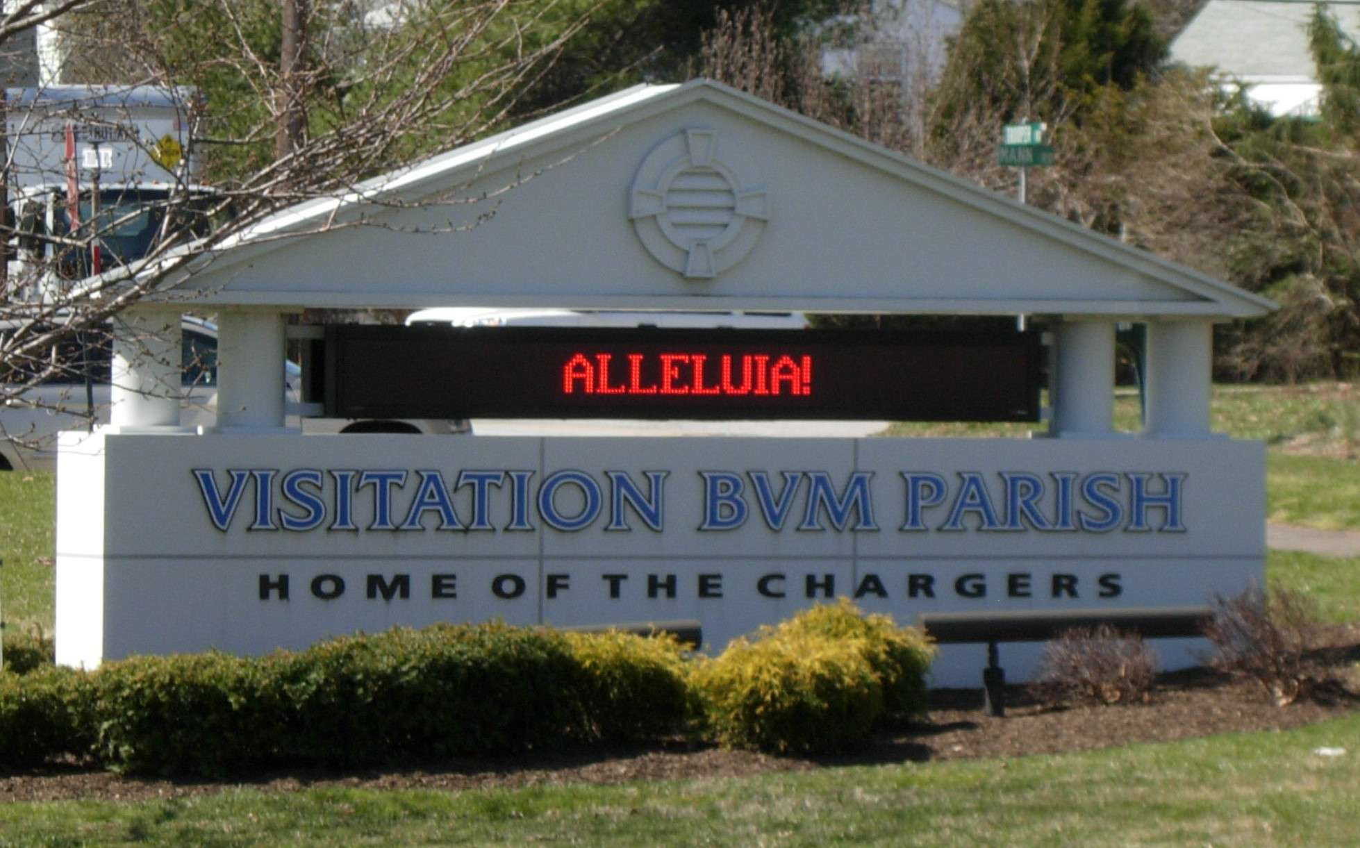 BVM school sign