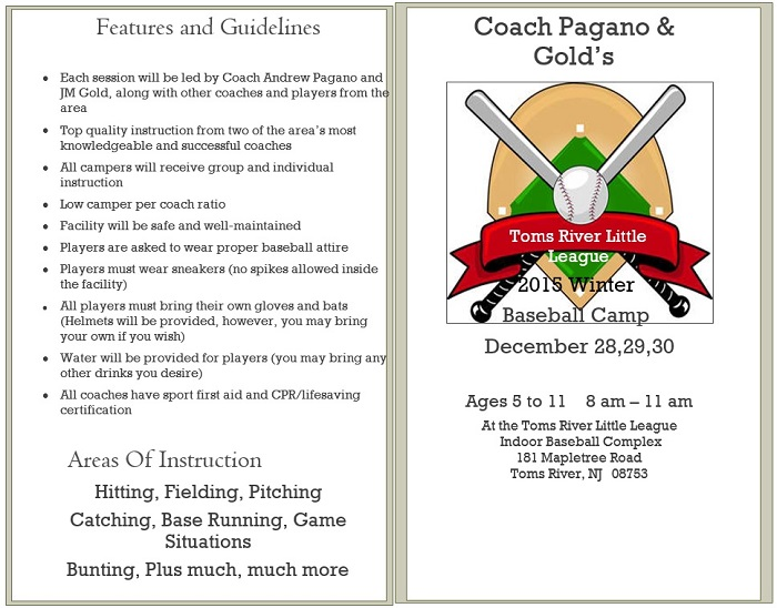 Pagano Gold Winter Camp 2015