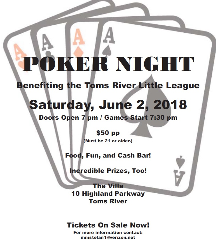 2018 Poker Night Flyer