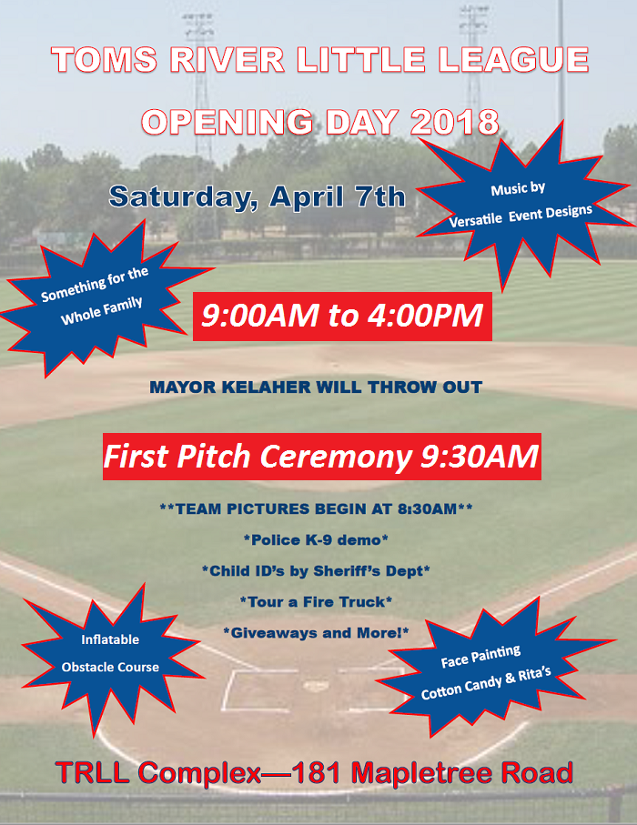 2018 Opening Day Flyer