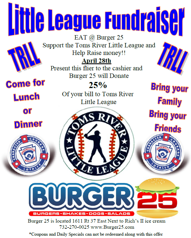 2016 Spring Burger25 Flyer