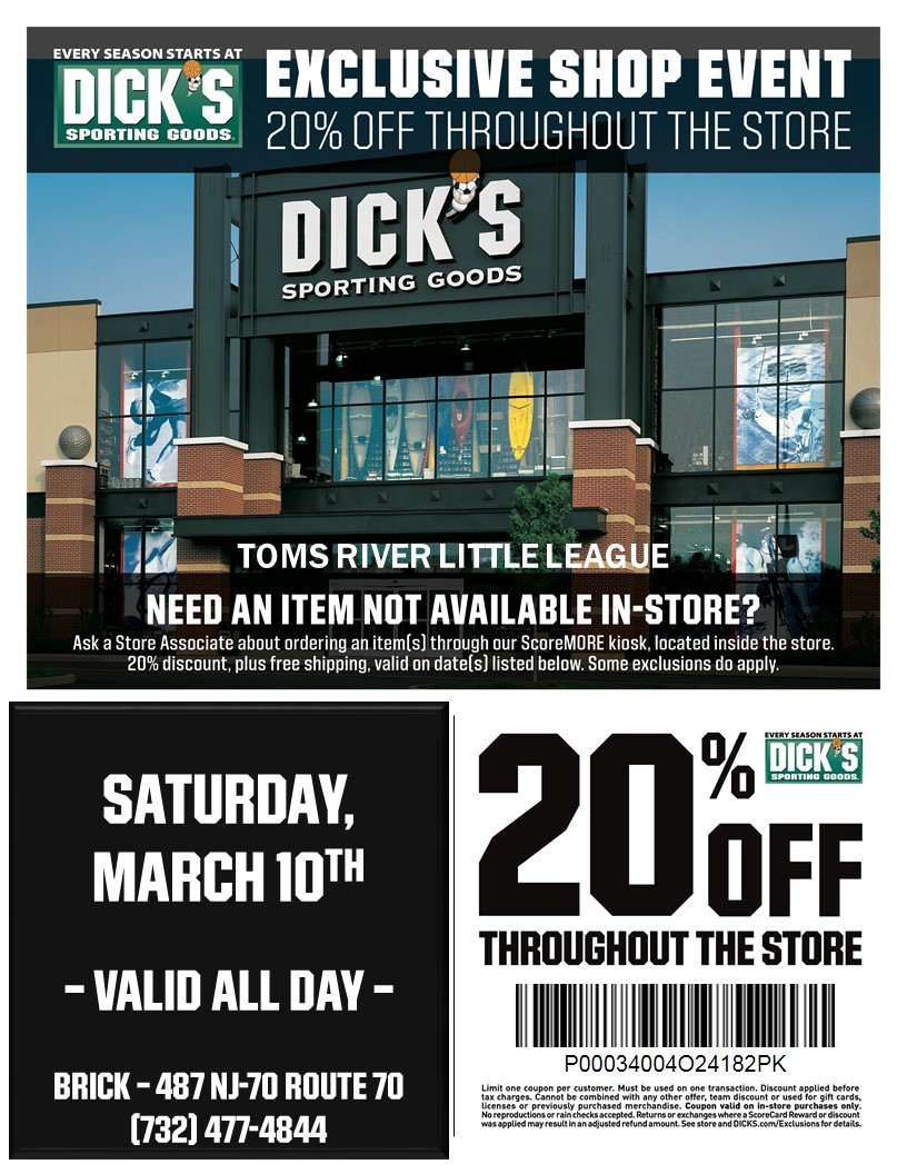2018 Dicks Day Discount