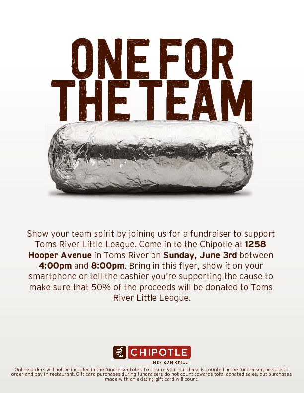 2018 Chipotle Flyer Spring