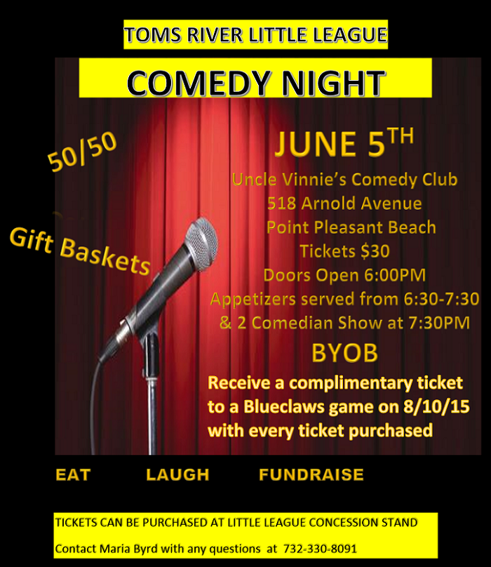 2015 Comedy Night Flyer