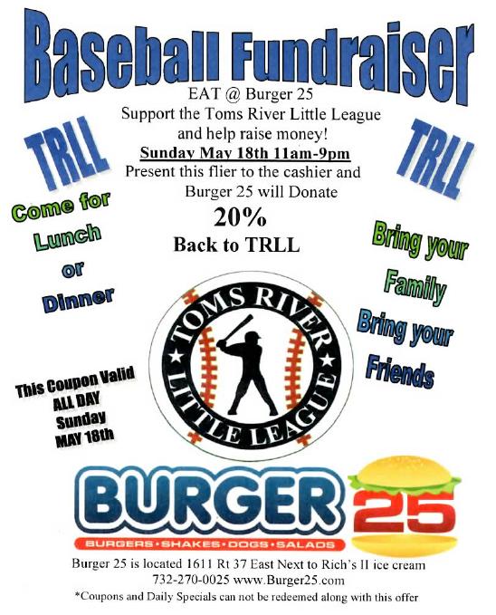 2014 Burger 25 Flyer