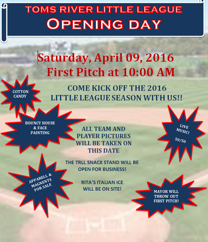 2016 Opening Day Flyer