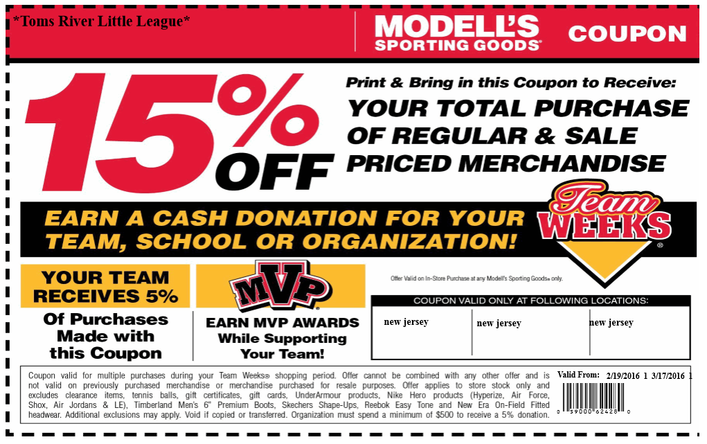 Modells Spring 2016 Coupon