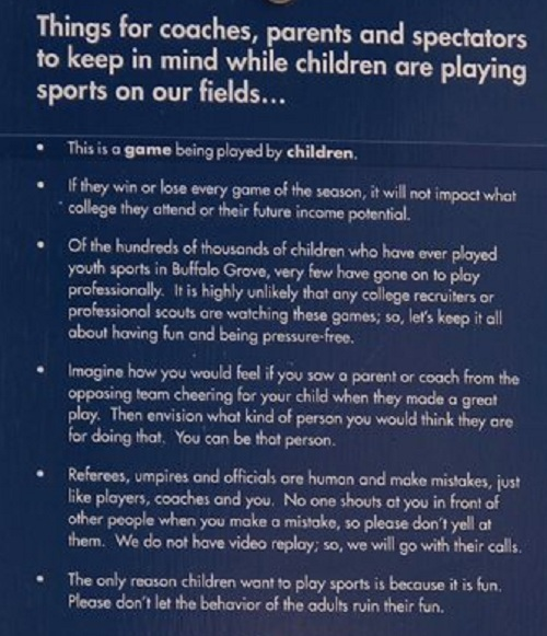 Youth Sports Sign