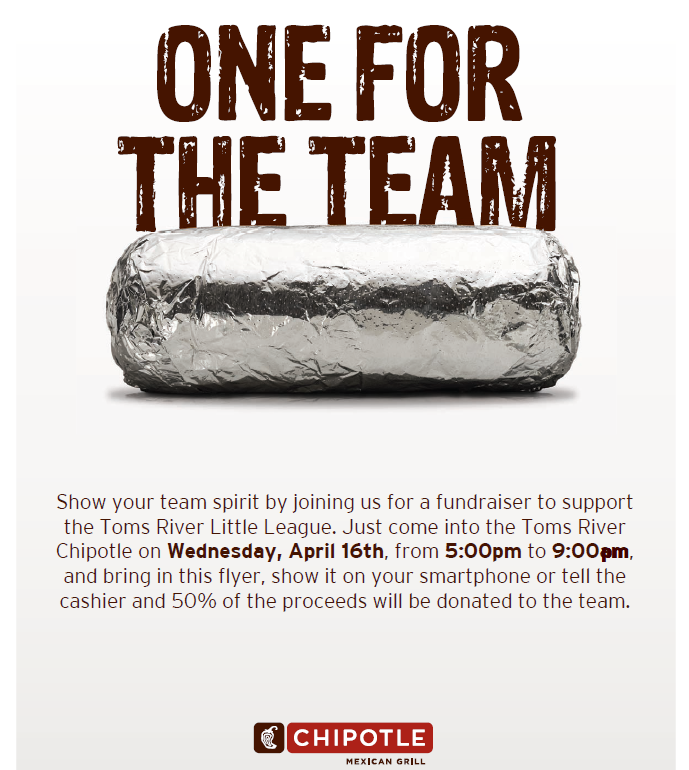 2014 Chipotle Spring Fundraiser