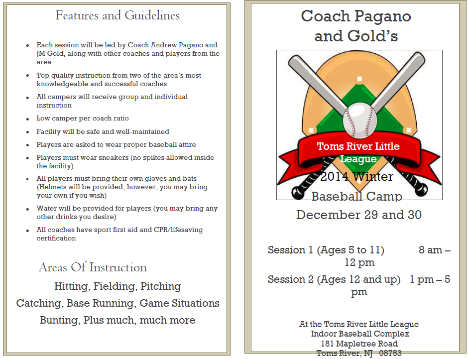 2014 Winter Camp Flyer