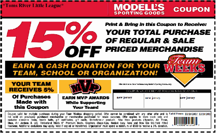 Modells Winter 2015 Coupon