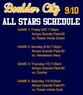 2014 9-10 Allstars Schedule