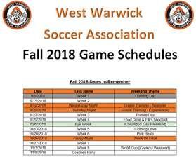 2018 Schedules