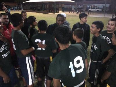 2012 FB Verde championship huddle