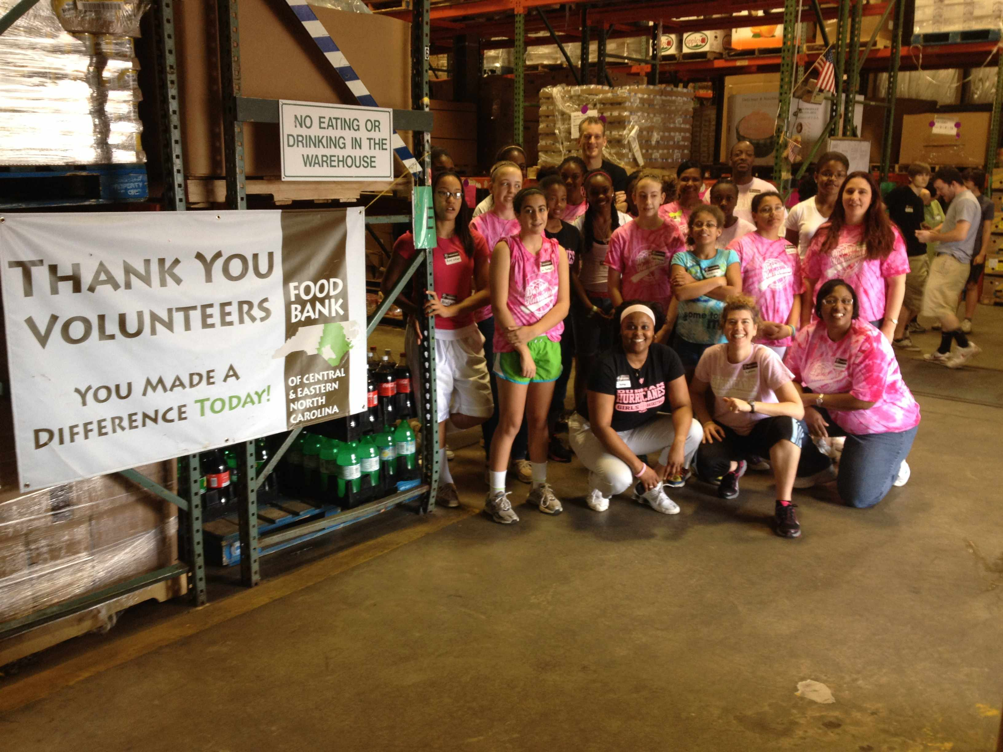 DH group pic at food bank