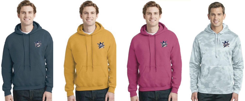 4 hoodies