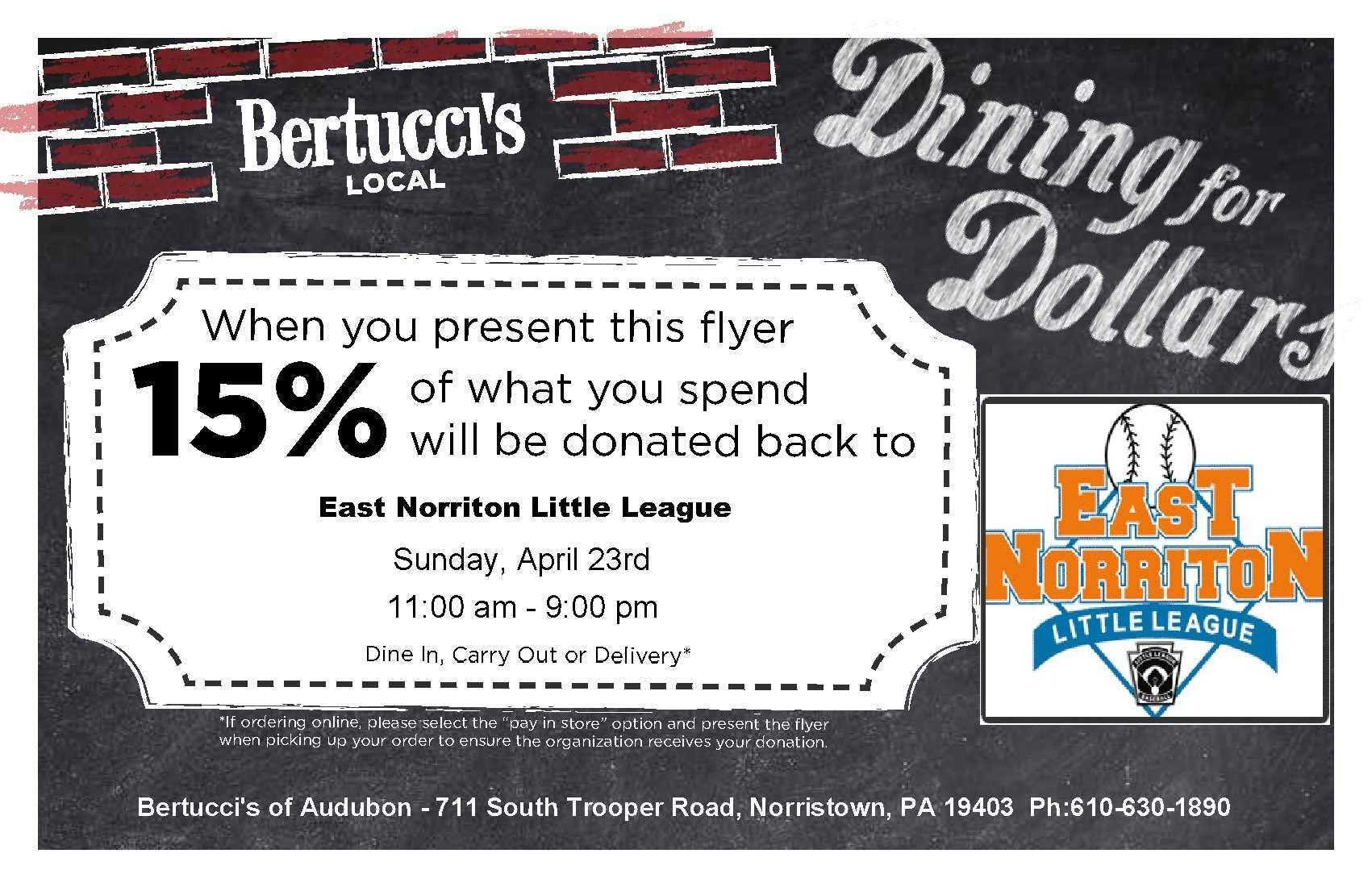 2017 ENLL Bertucci's Dining for Dollars