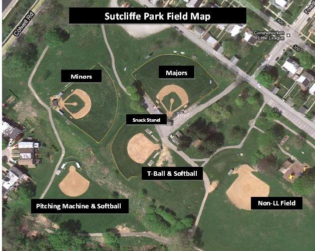 Sutcliffe Park map